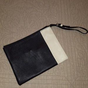 GAP color block pebbled leather wristlet